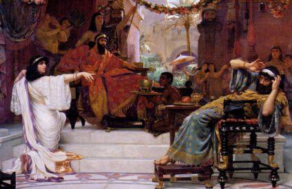 Esther Denouncing Haman Ernest Normand