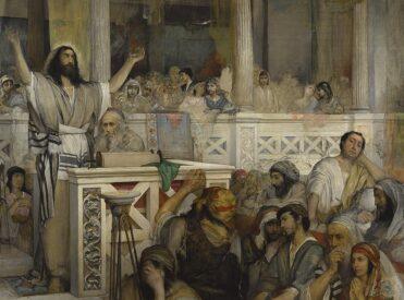Maurycy Gottlieb: Christ preaching at Capernaum