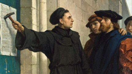 Ferdinand Pauwels Martin Luther posting 95 theses