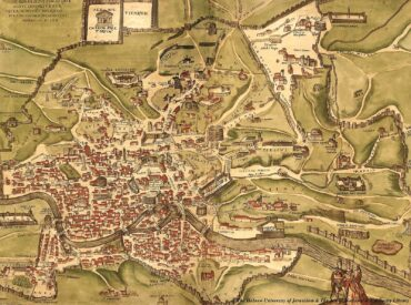 Historical map of ancient Rome of the 1st century CE published in Italy in 1570