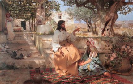 Henryk Semiradsky Christ Martha Maria