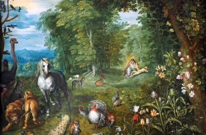 Jan Brueghel the Younger: Paradise with the Creation of Eve