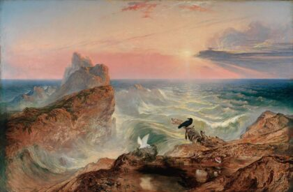 The Assuaging of the Waters by John Martin, 1840
