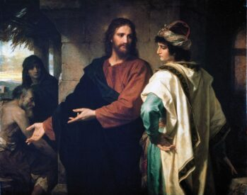 """Heinrich Hofmann, """"Christ and the Rich Young Ruler"""""""